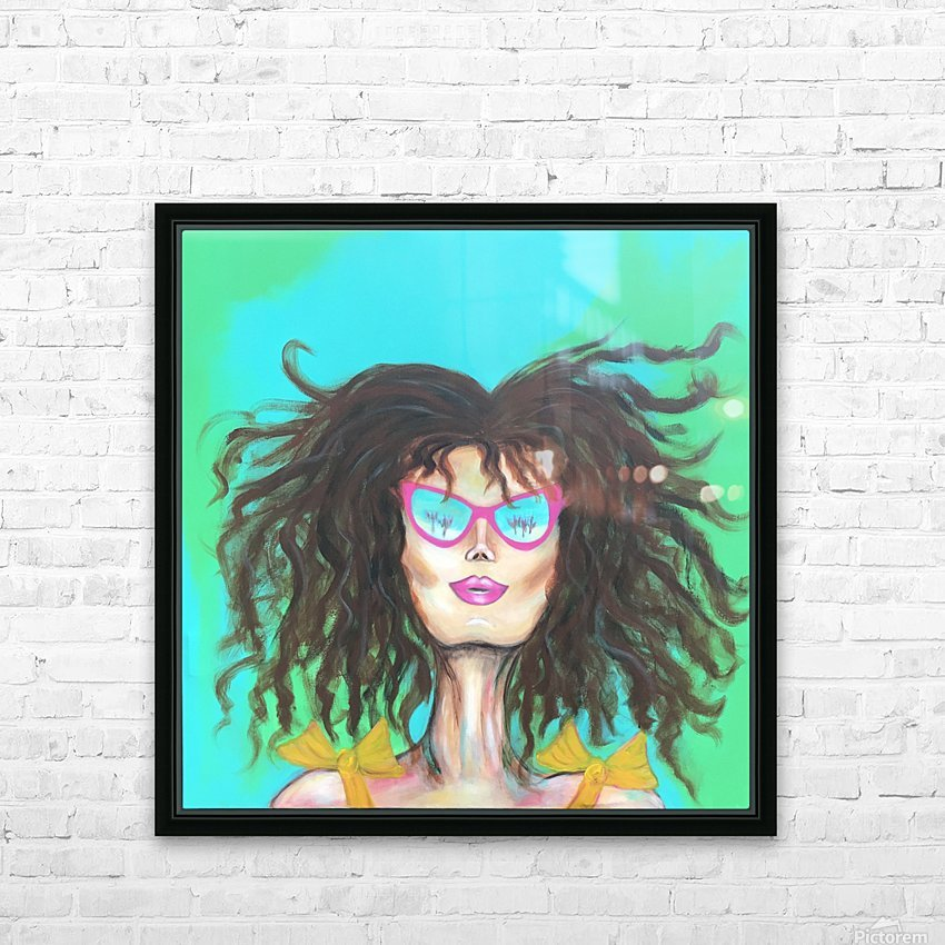 Marie Popette HD Sublimation Metal print with Decorating Float Frame (BOX)
