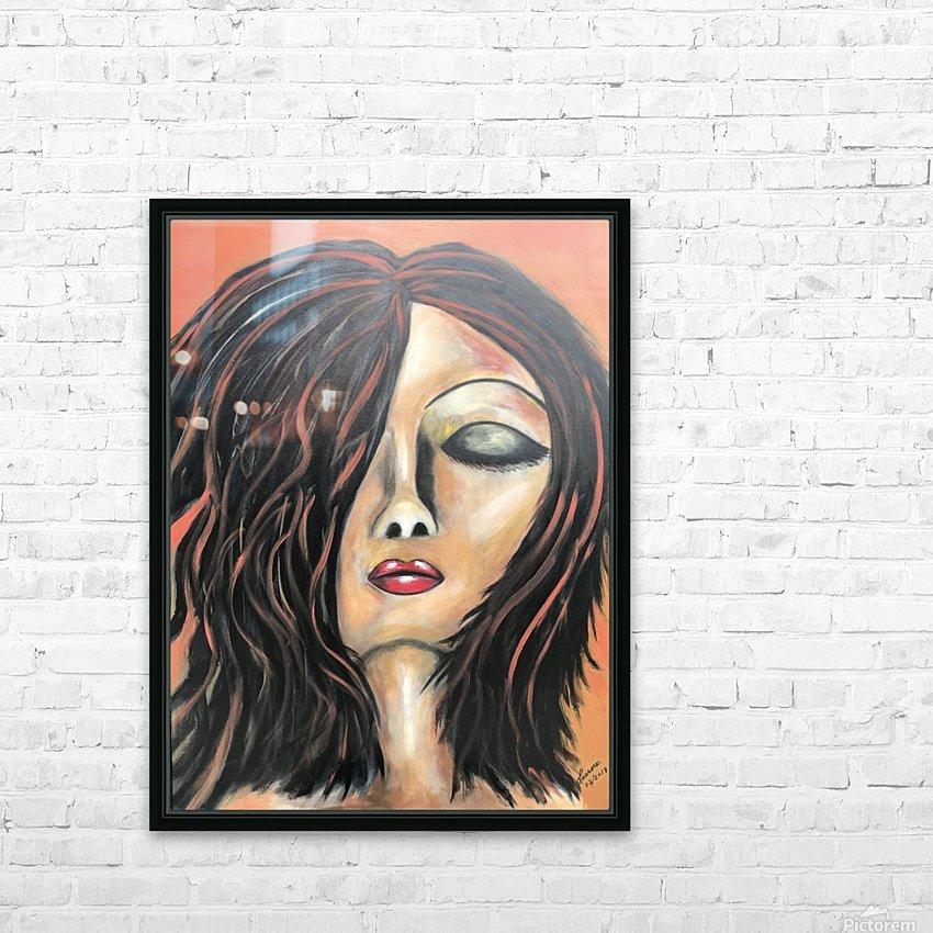 La Femme Zen HD Sublimation Metal print with Decorating Float Frame (BOX)