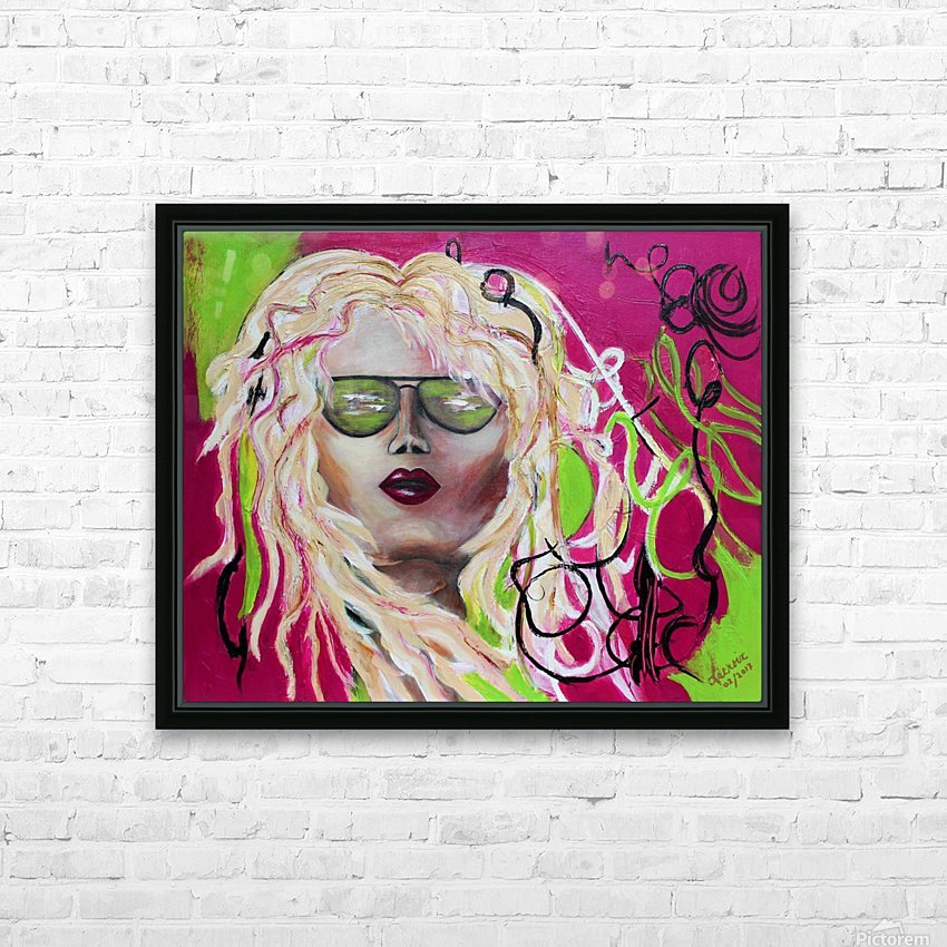 The Beach Girl HD Sublimation Metal print with Decorating Float Frame (BOX)