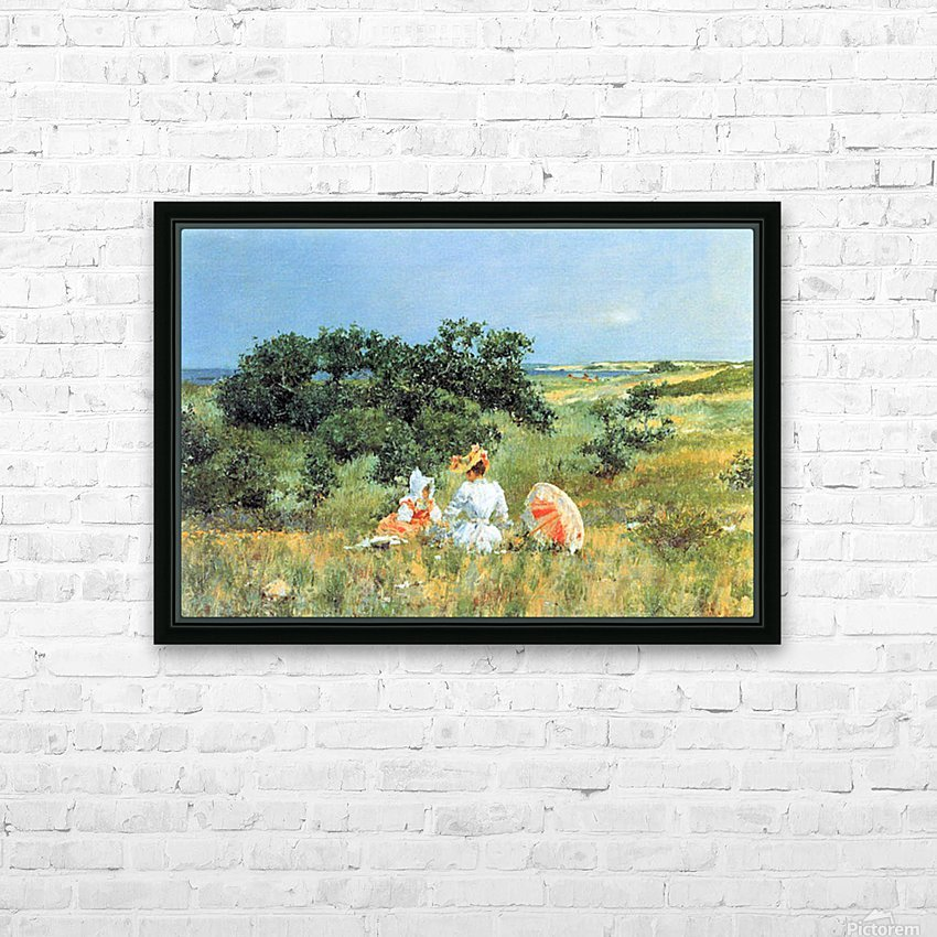 The Tale by William Merritt Chase HD Sublimation Metal print with Decorating Float Frame (BOX)
