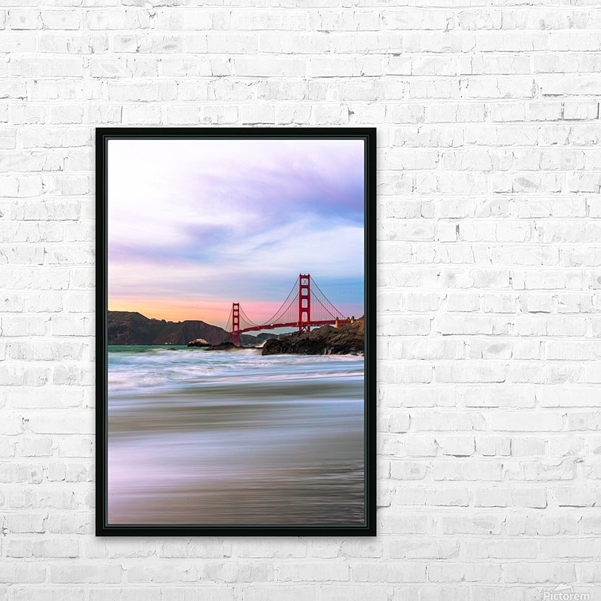 Symphony of Light HD Sublimation Metal print with Decorating Float Frame (BOX)