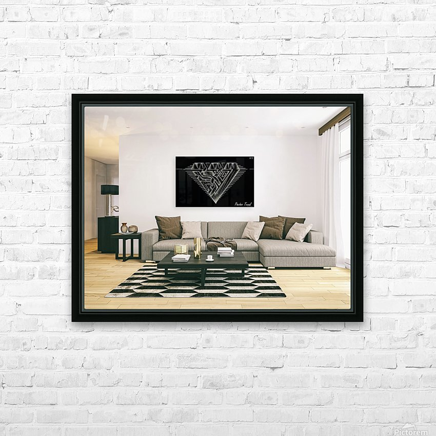 monogram diamond aaa  FOR DISPLAY ONLY  room1 HD Sublimation Metal print with Decorating Float Frame (BOX)