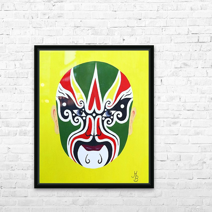 Cheng Yaojin - Chinese Opera Mask HD Sublimation Metal print with Decorating Float Frame (BOX)