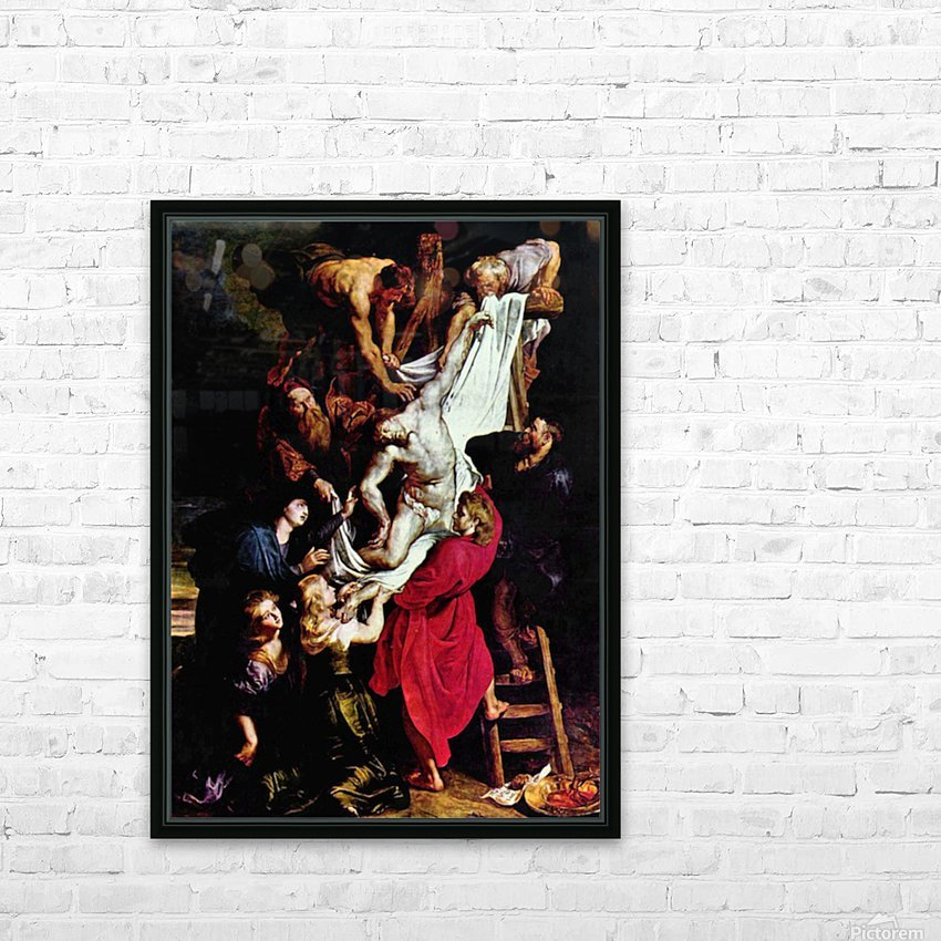 Cross, Triptych, Middle panel of Crucifixion by Rubens HD Sublimation Metal print with Decorating Float Frame (BOX)
