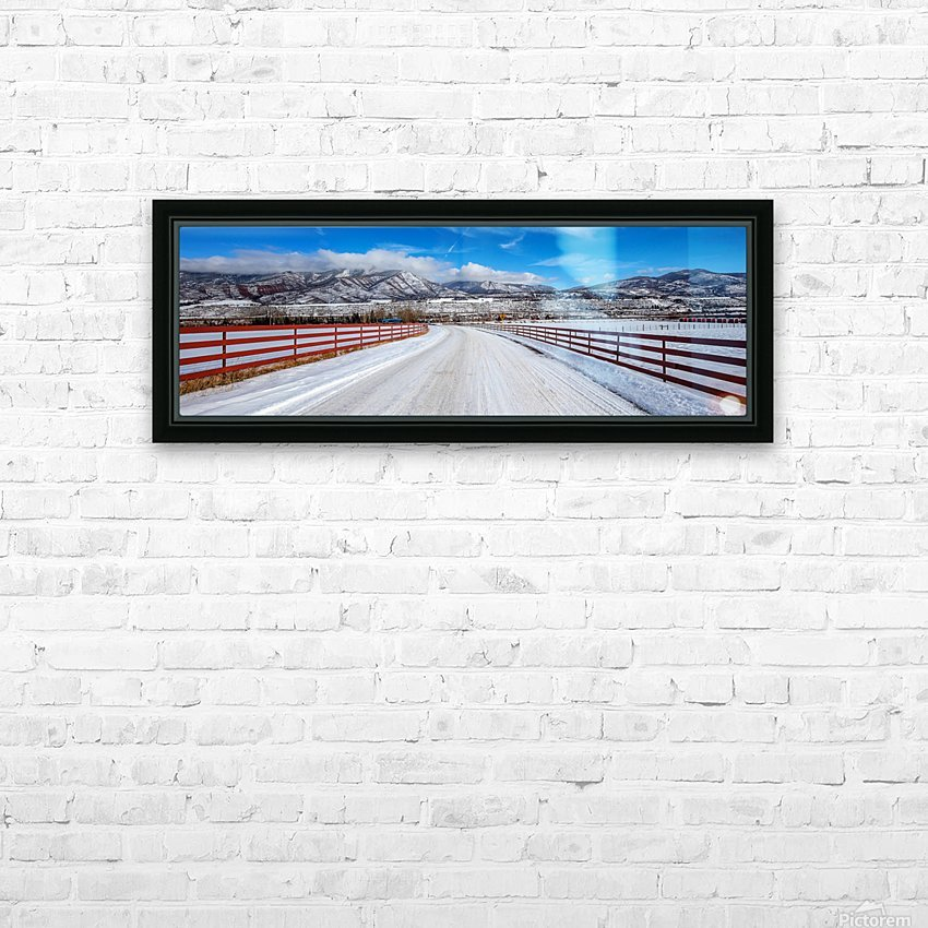 White shroud HD Sublimation Metal print with Decorating Float Frame (BOX)