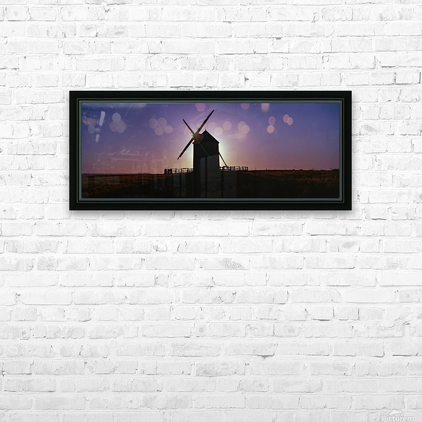 Windmill against the sunset north west France. HD Sublimation Metal print with Decorating Float Frame (BOX)