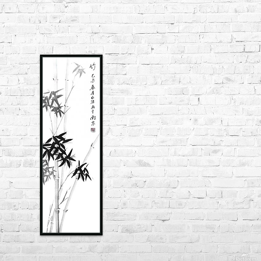 Bamboo - Chinese Style - one HD Sublimation Metal print with Decorating Float Frame (BOX)