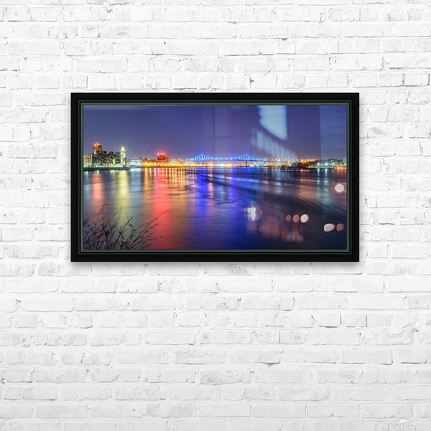 Montreal Canada HD Sublimation Metal print with Decorating Float Frame (BOX)
