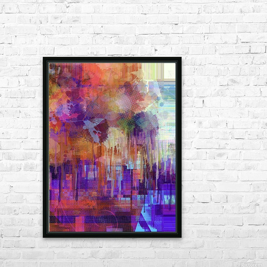 Abstract - Inadvertent Prevaricator HD Sublimation Metal print with Decorating Float Frame (BOX)