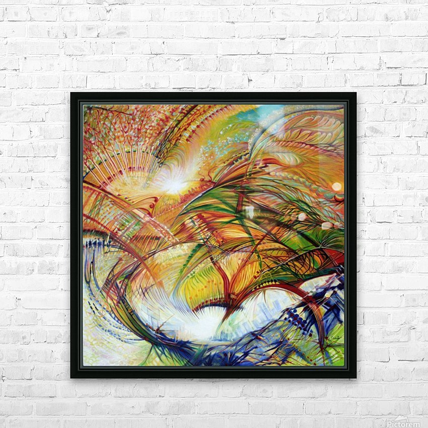 Feathers of the Phoenix HD Sublimation Metal print with Decorating Float Frame (BOX)