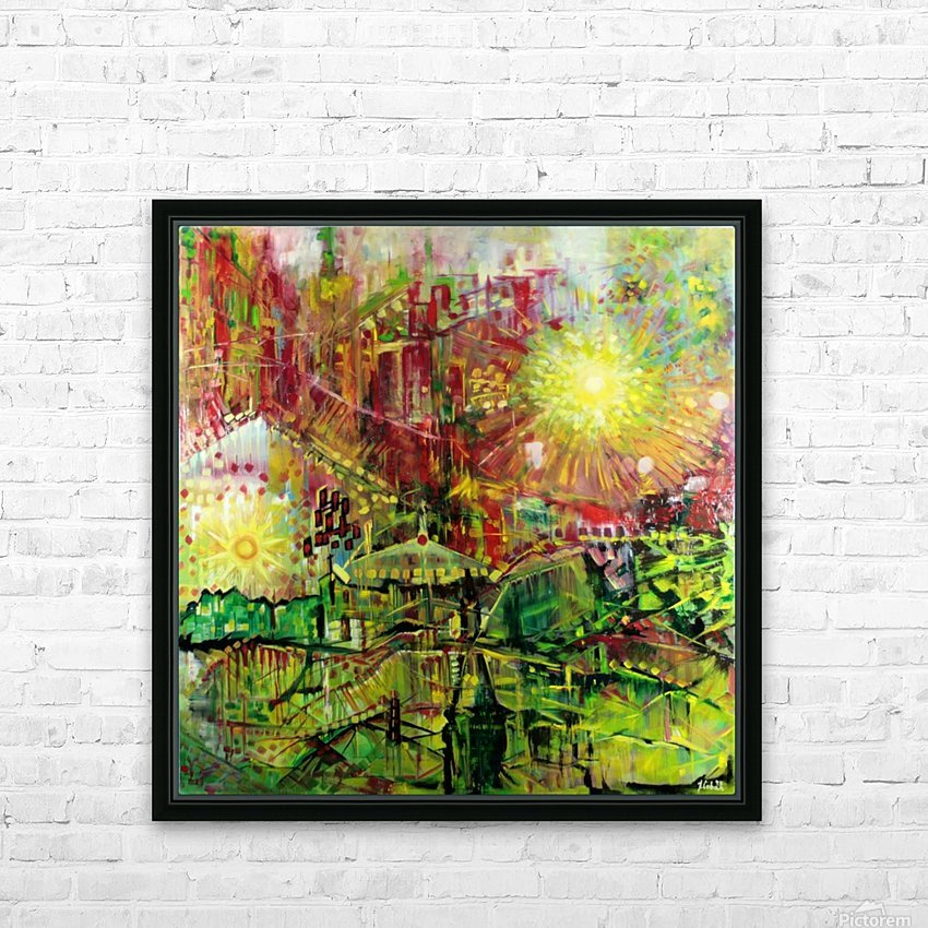 Landscape with two Suns and UFO HD Sublimation Metal print with Decorating Float Frame (BOX)