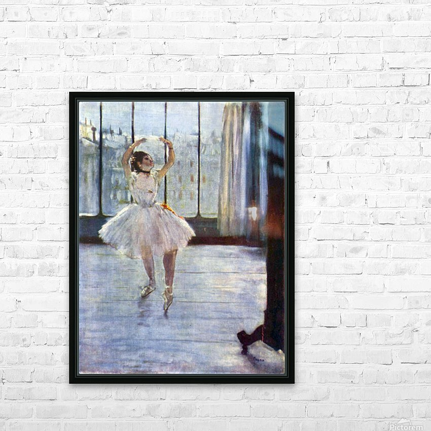 Dancer being photographed by Degas HD Sublimation Metal print with Decorating Float Frame (BOX)