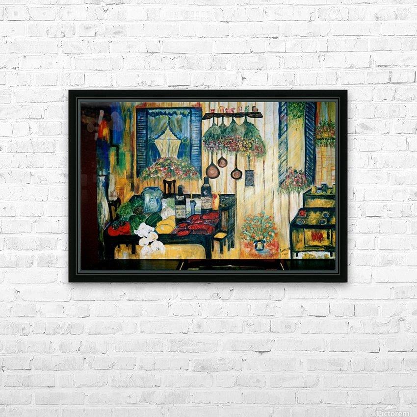 La Cuisine de mon Enfance HD Sublimation Metal print with Decorating Float Frame (BOX)