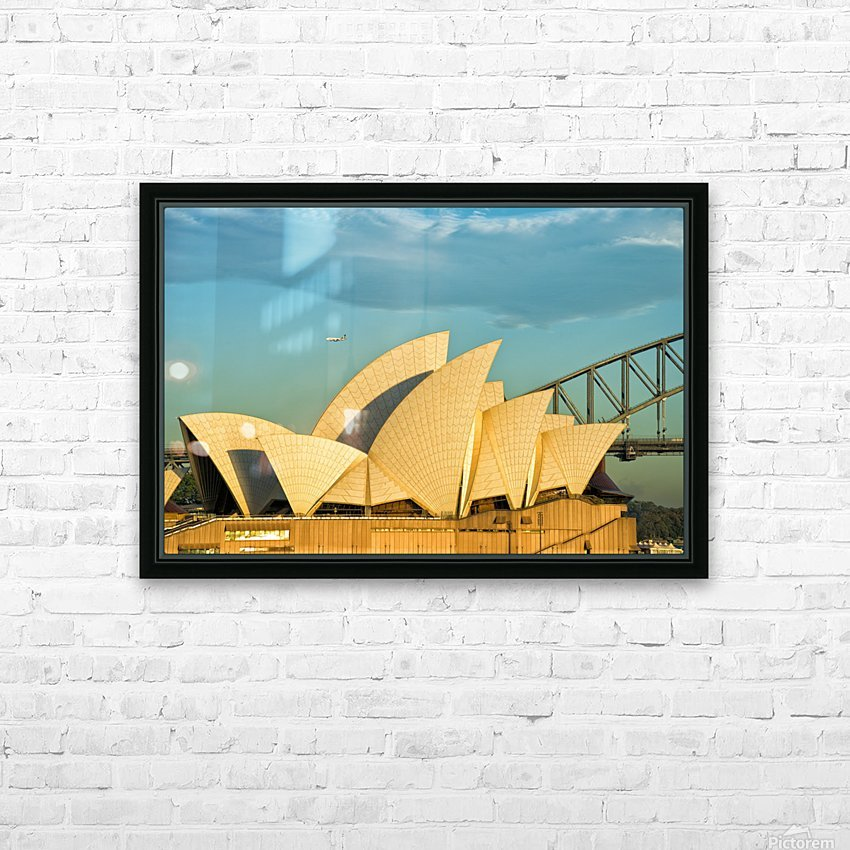 First plane of the morning Sydney Opera House HD Sublimation Metal print with Decorating Float Frame (BOX)