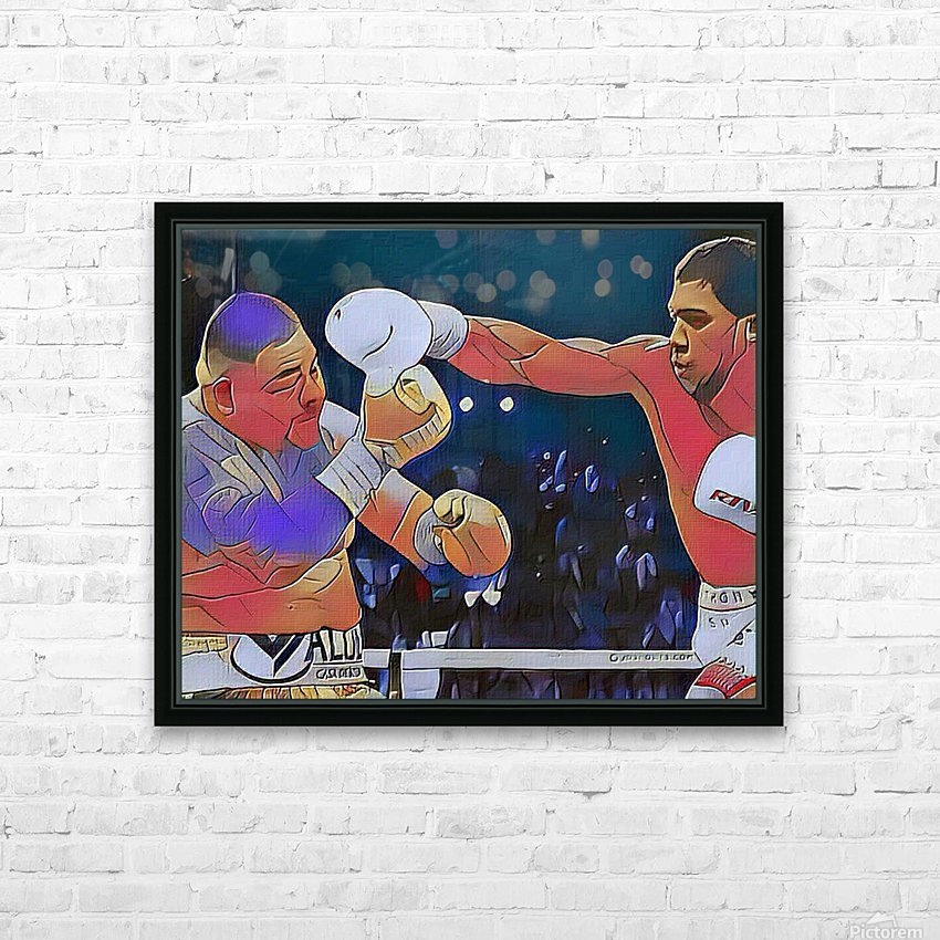 Big Fight HD Sublimation Metal print with Decorating Float Frame (BOX)