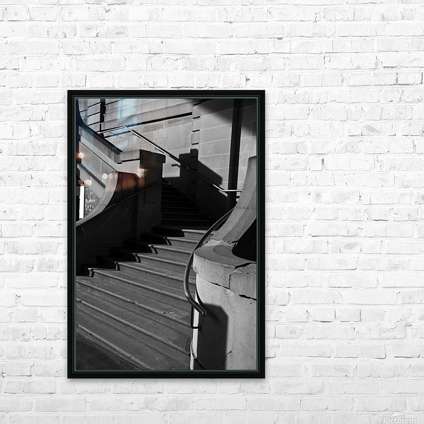 Sandstone stairway The Rocks Sydney shot in Mono HD Sublimation Metal print with Decorating Float Frame (BOX)