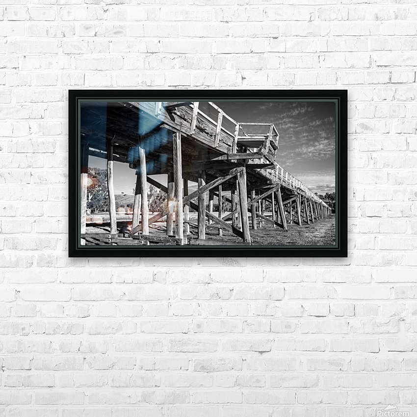 Old disused railway bridge New South Wales australia Mono HD Sublimation Metal print with Decorating Float Frame (BOX)