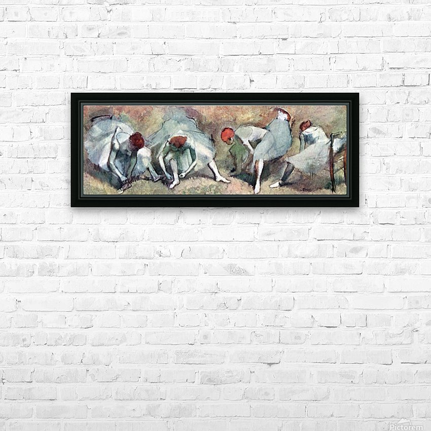 Dancers lace their shoes by Degas HD Sublimation Metal print with Decorating Float Frame (BOX)