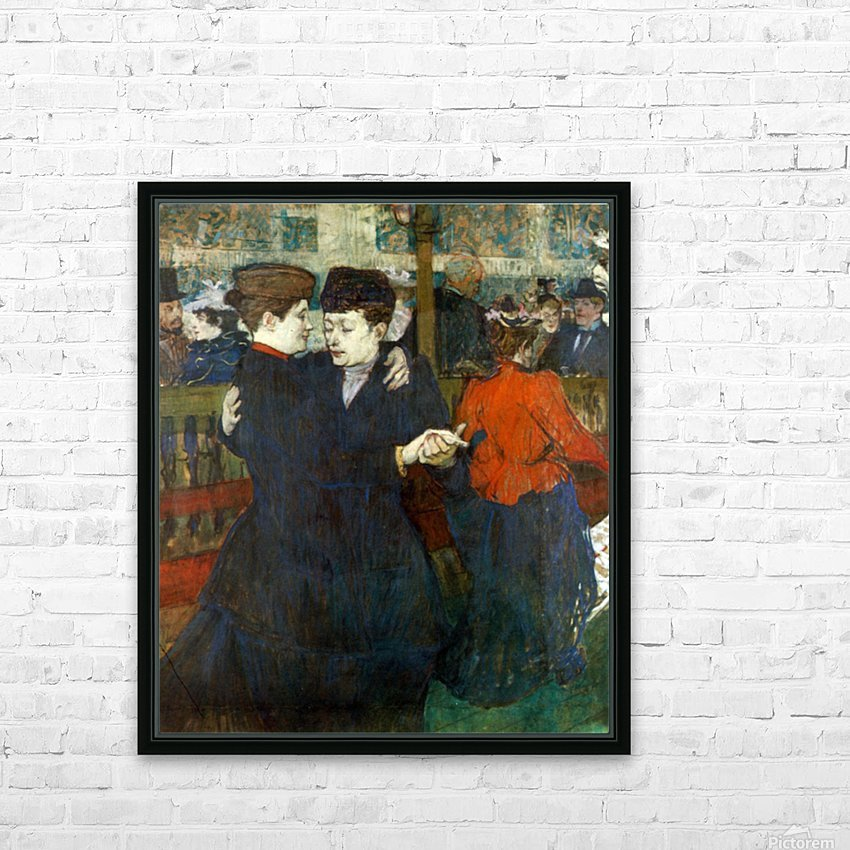 Dancing a Valse by Toulouse-Lautrec HD Sublimation Metal print with Decorating Float Frame (BOX)