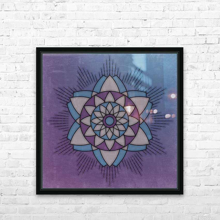 Simple Vintage Glow Mandala Solid HD Sublimation Metal print with Decorating Float Frame (BOX)