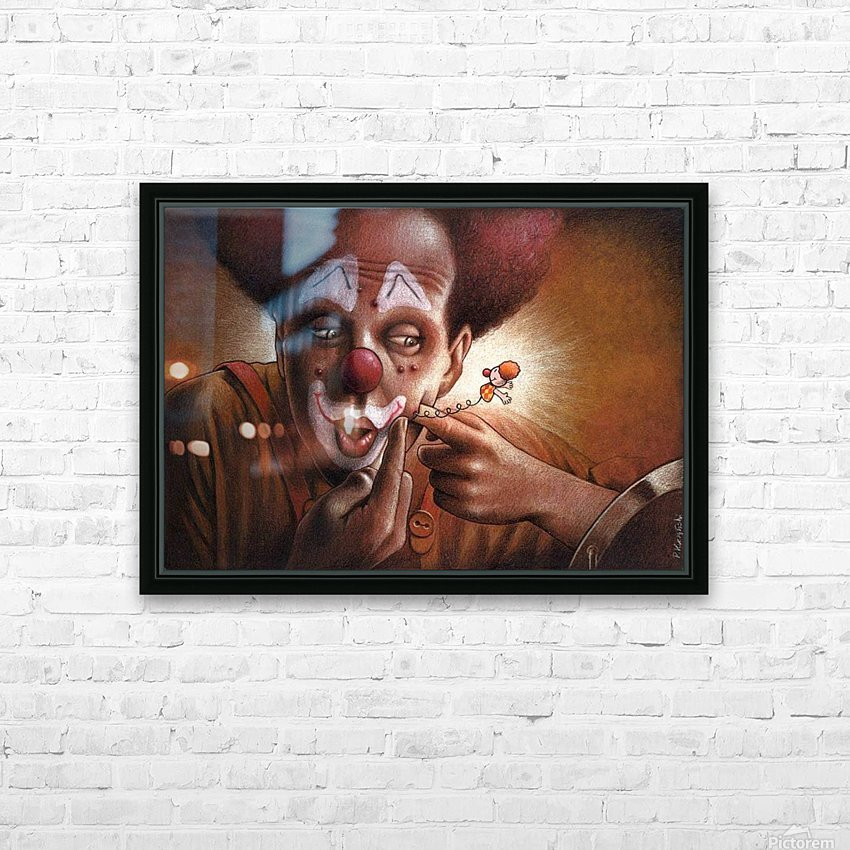 clown HD Sublimation Metal print with Decorating Float Frame (BOX)