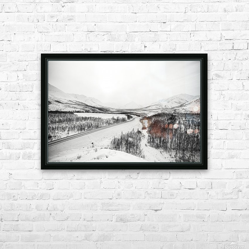Kolyma Highway in Yakutia HD Sublimation Metal print with Decorating Float Frame (BOX)