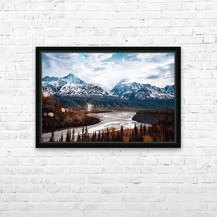 Autumn Landscape HD Sublimation Metal print with Decorating Float Frame (BOX)