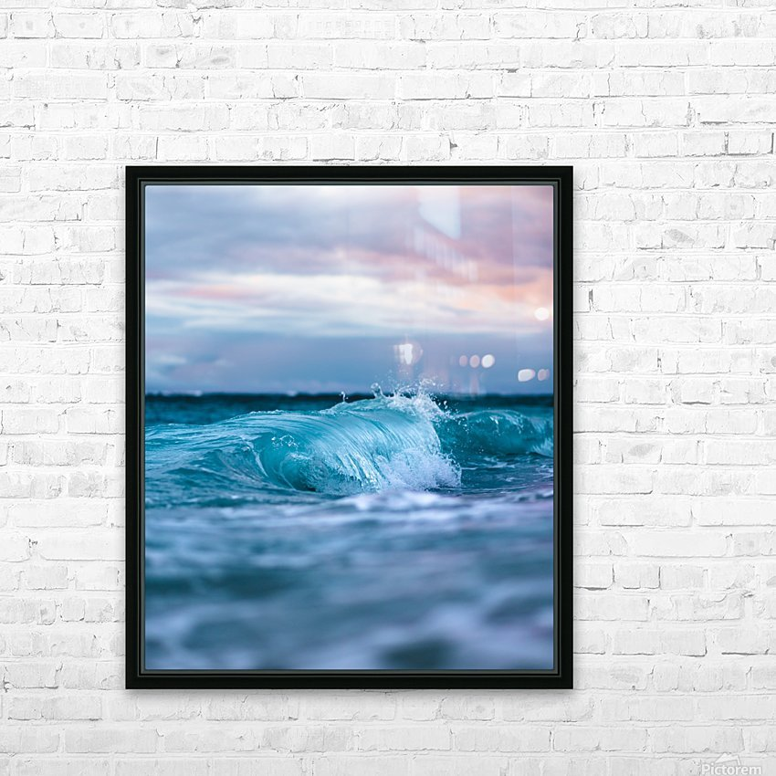 Blue Waves HD Sublimation Metal print with Decorating Float Frame (BOX)
