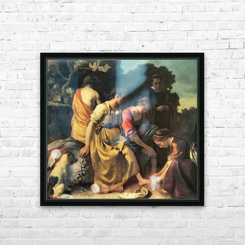Diana and her nymphs by Vermeer HD Sublimation Metal print with Decorating Float Frame (BOX)