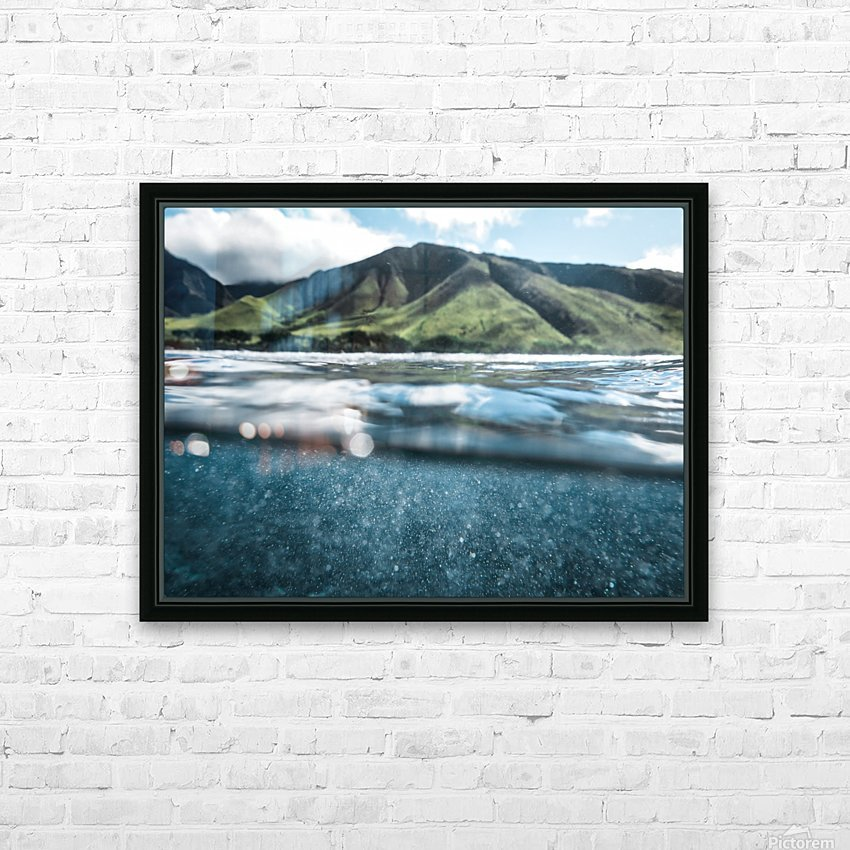 Land and Sea HD Sublimation Metal print with Decorating Float Frame (BOX)