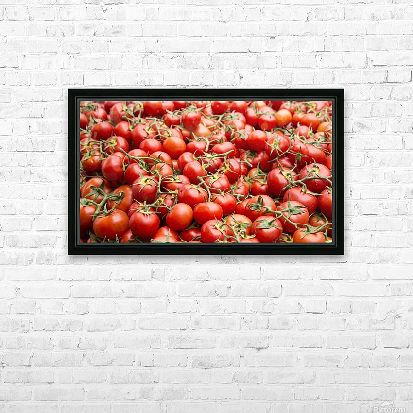 Tomatoes for sale open air market HD Sublimation Metal print with Decorating Float Frame (BOX)