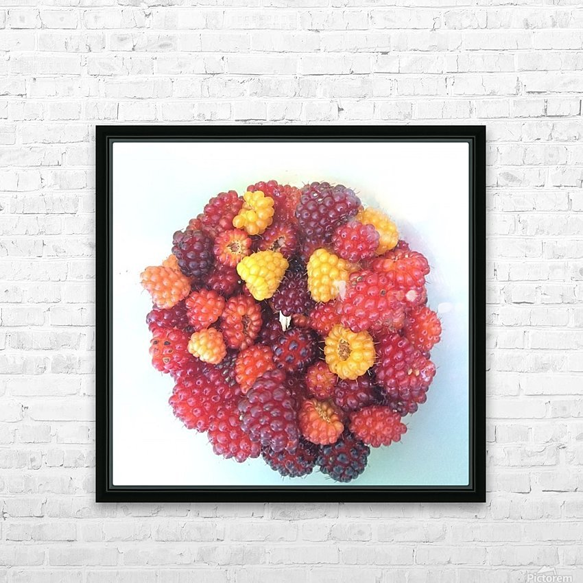 Wild Berries HD Sublimation Metal print with Decorating Float Frame (BOX)
