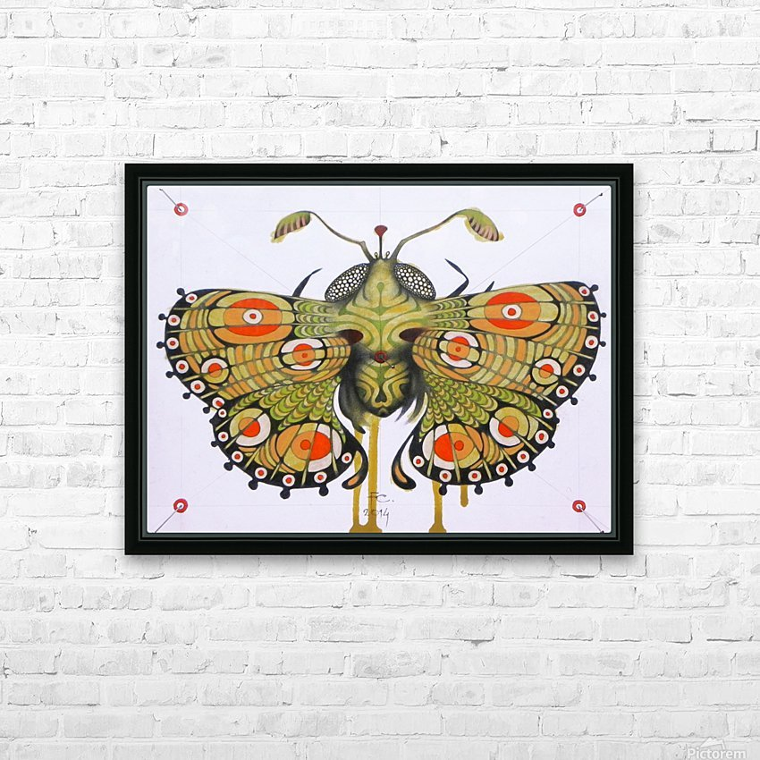moth HD Sublimation Metal print with Decorating Float Frame (BOX)