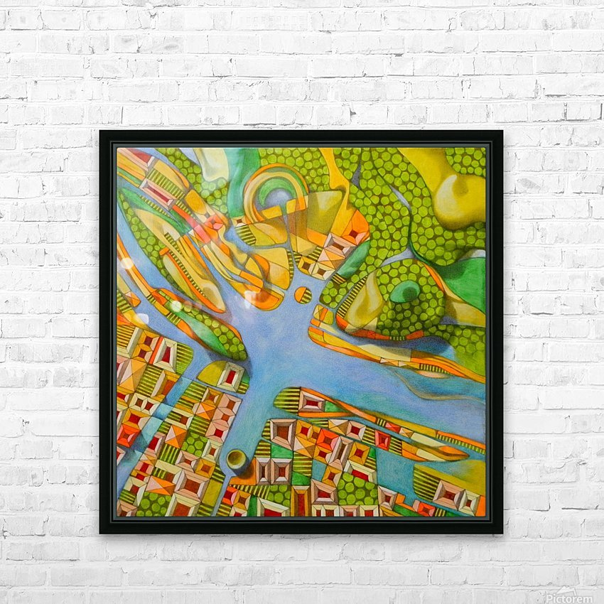 imaginary map of turin HD Sublimation Metal print with Decorating Float Frame (BOX)
