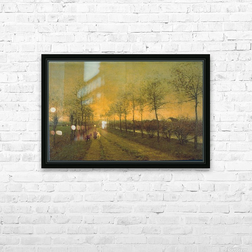 Dusk by Maris HD Sublimation Metal print with Decorating Float Frame (BOX)