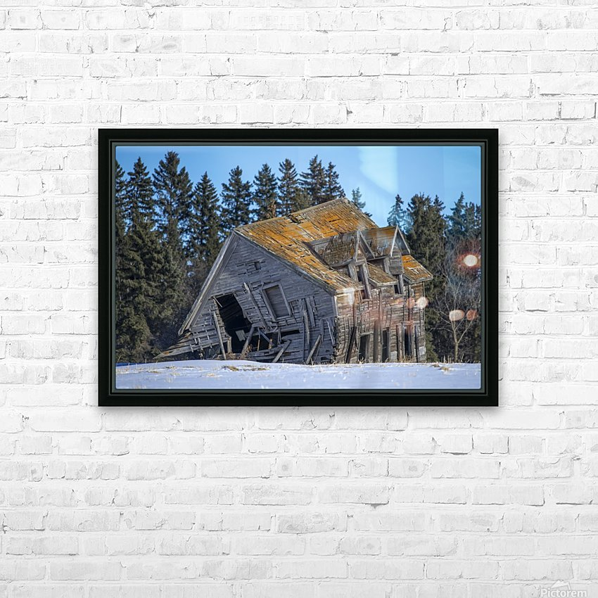 Old House HD Sublimation Metal print with Decorating Float Frame (BOX)