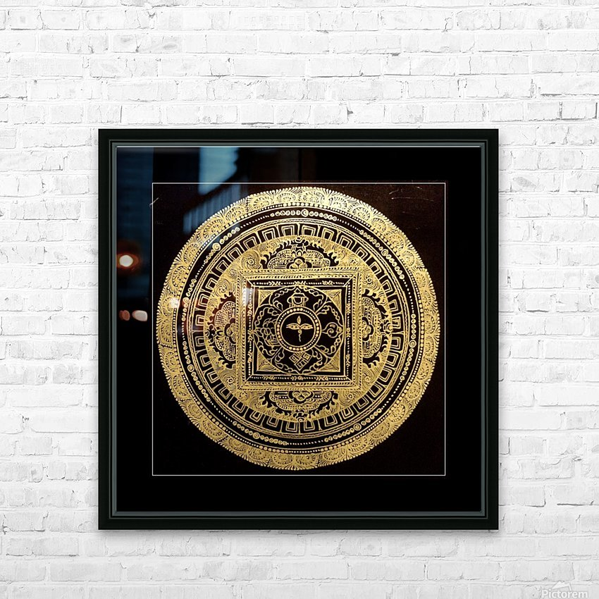 Nepali Goldwork: Buddha Eyes HD Sublimation Metal print with Decorating Float Frame (BOX)