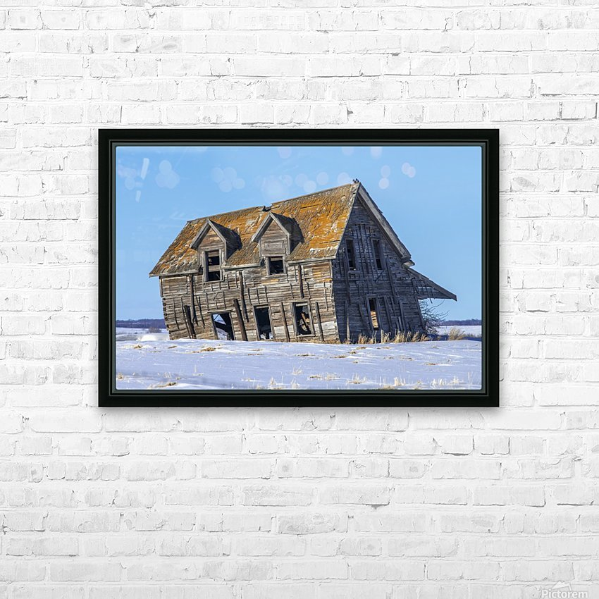 Abandoned Farm House HD Sublimation Metal print with Decorating Float Frame (BOX)
