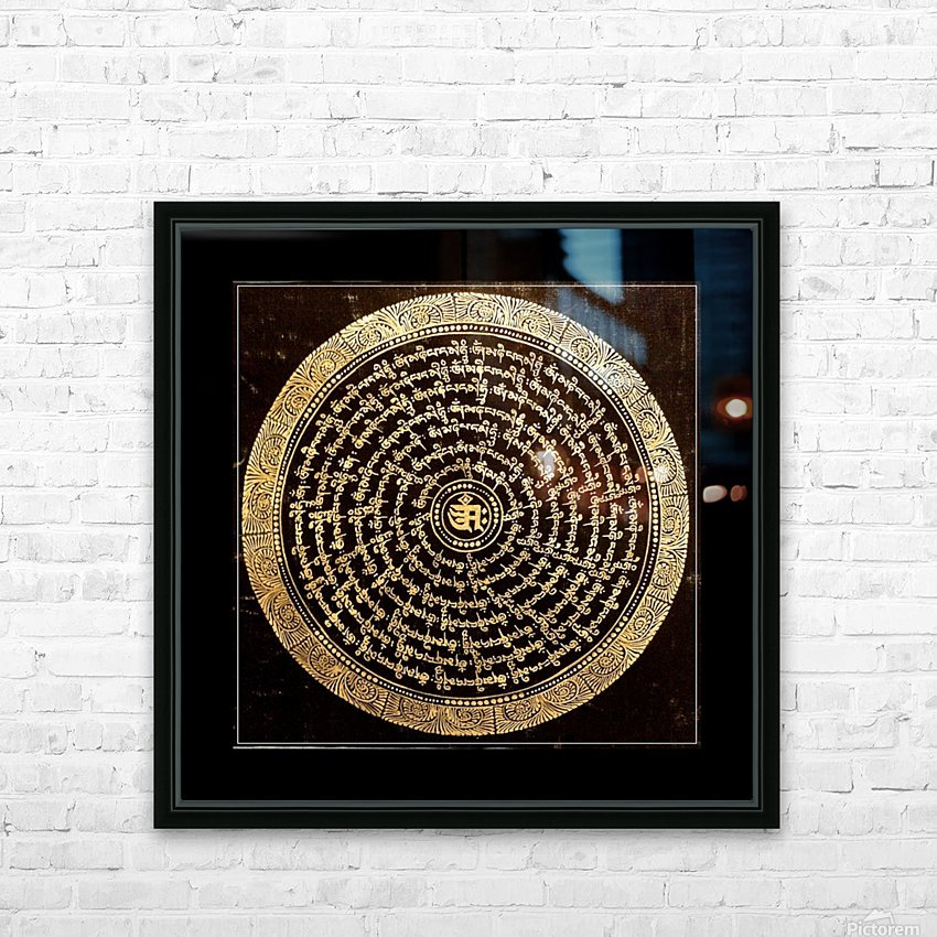 Nepali Goldwork: Serenity HD Sublimation Metal print with Decorating Float Frame (BOX)