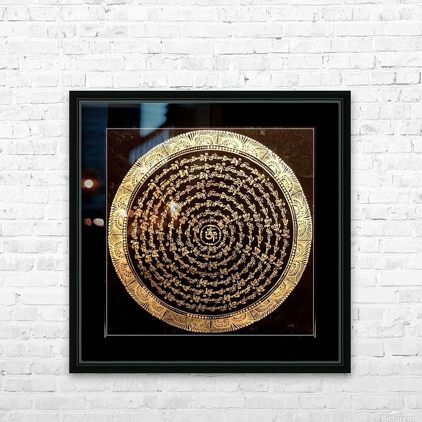 Nepali Goldwork: Tranquility HD Sublimation Metal print with Decorating Float Frame (BOX)