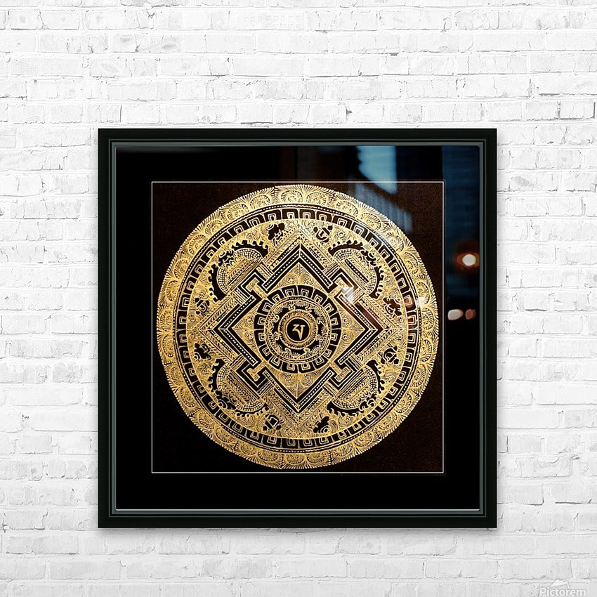 Nepali Goldwork: Peace HD Sublimation Metal print with Decorating Float Frame (BOX)