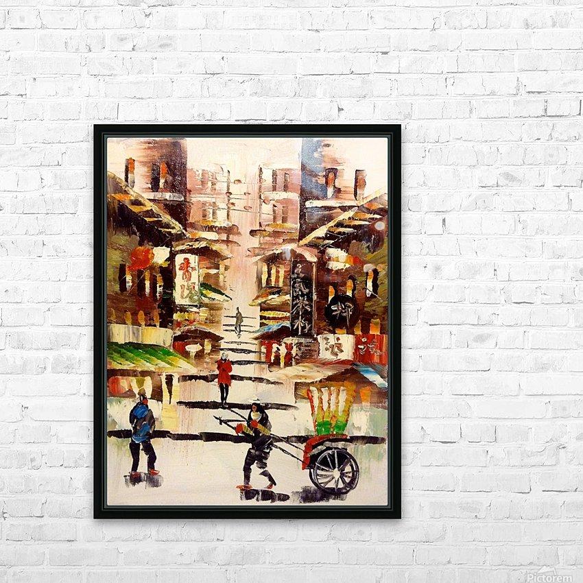 Hong Kong Soho HD Sublimation Metal print with Decorating Float Frame (BOX)