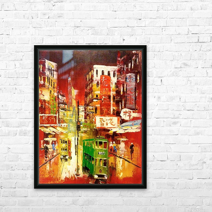 Wanchai Night HD Sublimation Metal print with Decorating Float Frame (BOX)