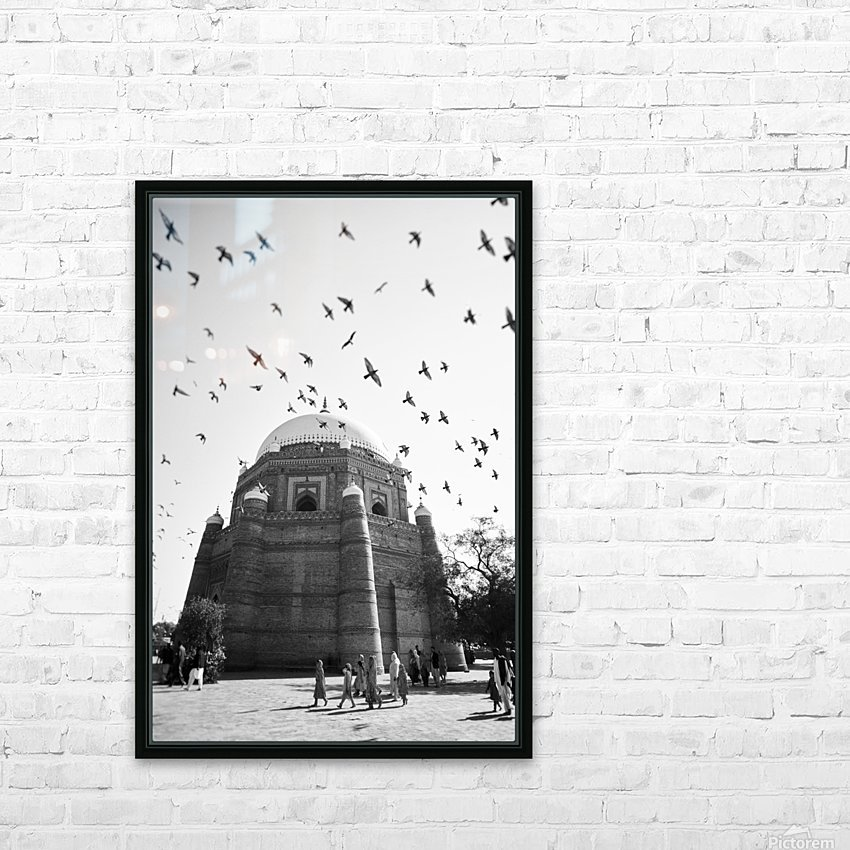 The Tomb of Shah Rukn-e-Alam in Multan Pakistan HD Sublimation Metal print with Decorating Float Frame (BOX)