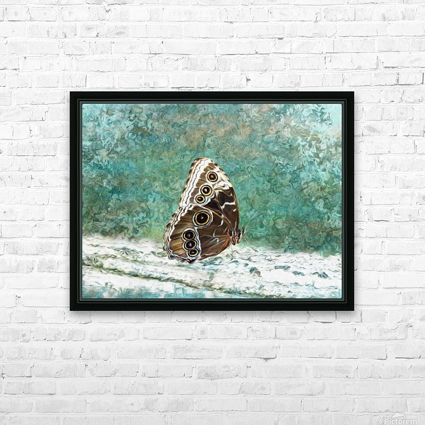 Blue Morpho Secret Identity HD Sublimation Metal print with Decorating Float Frame (BOX)