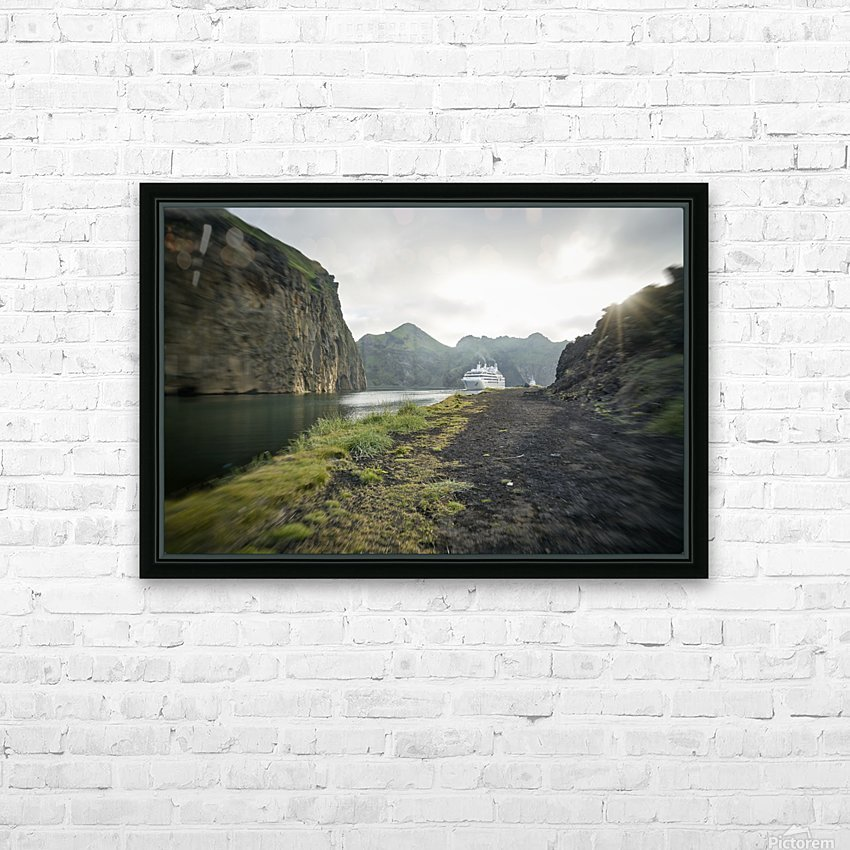 Heimaey Island HD Sublimation Metal print with Decorating Float Frame (BOX)