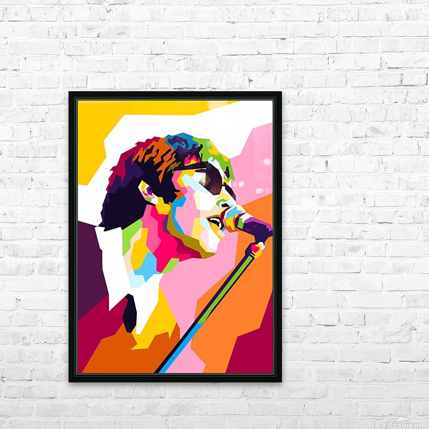 Liam Gallagher HD Sublimation Metal print with Decorating Float Frame (BOX)