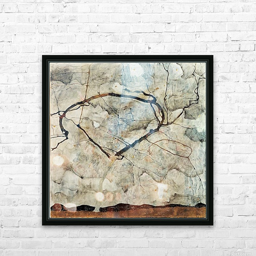 Egon Schiele - Winter Tree HD Sublimation Metal print with Decorating Float Frame (BOX)