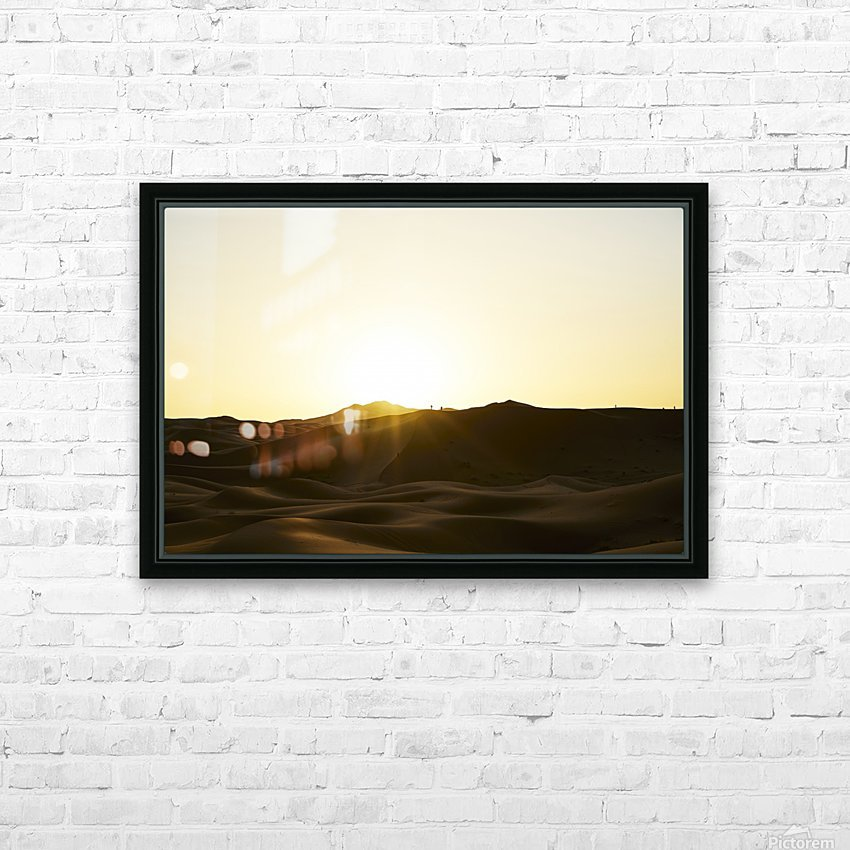 Erg Chebbi at Sunset HD Sublimation Metal print with Decorating Float Frame (BOX)