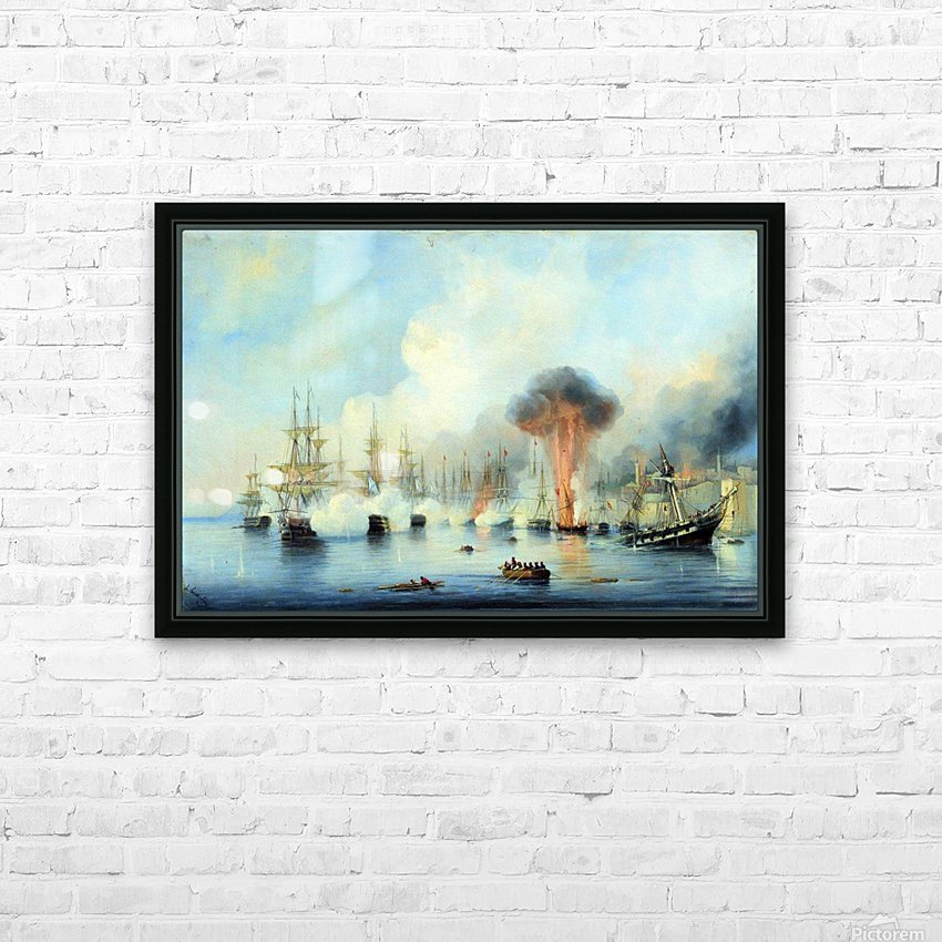 Battle of Sinop HD Sublimation Metal print with Decorating Float Frame (BOX)